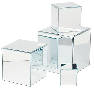 Tripar Square Glass Mirror Risers, 4/Set (36575)