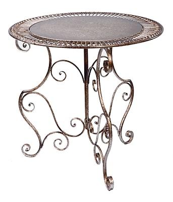 Tripar Metal Accent Table, Bronze, Each (54660)