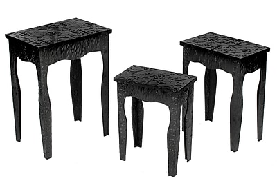 Tripar Metal Sets Table, Black, Each (58795)