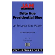 "JAM Paper® Matte Legal Paper - 8/5"" x 14"" - 28lb Presidential Blue - 100/pack"