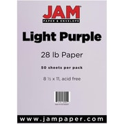 JAM Paper® Matte Paper, 8.5 x 11, 28lb Light Purple, 50/pack (16729267)