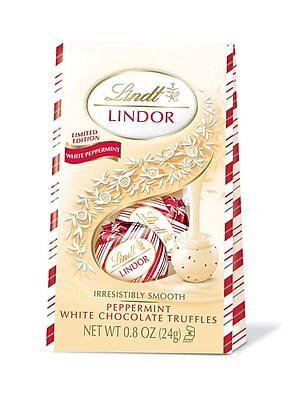 Lindor White Chocolate Peppermint Bag, 24 ct (C001535)