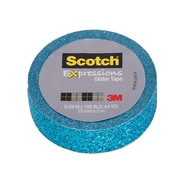 Scotch® Expressions Glitter Tape, 15 mm x 5 m, Blue