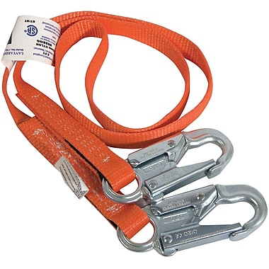 Lanyard No Energy Absorber Dble Locking Snaps 6 (ft)