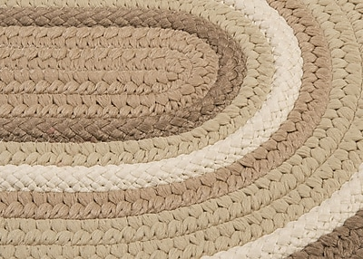 Colonial Mills Brooklyn Hand Braided Natural Indoor/Outdoor Area Rug; Round 12'