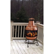 Deeco Cape Copper Wood Burning Chiminea