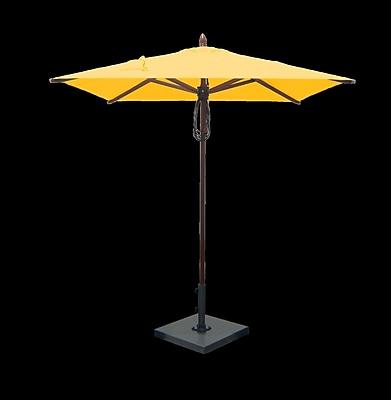 Greencorner 6.5' Square Market Umbrella; Sunflower Yellow