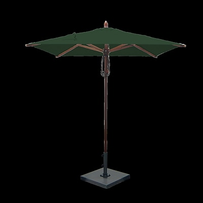 Greencorner 6.5' Square Market Umbrella; Forest Green