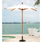 Greencorner 6.5' Square Market Umbrella; Natural