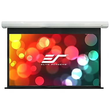 Elite Screens Saker White Electric Projection Screen; 120'' Diagonal 16:10, 12'' Drop