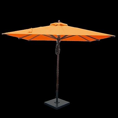 Greencorner 8' Square Market Umbrella; Orange