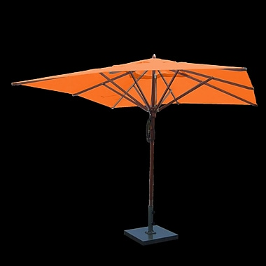 Greencorner 10' Square Market Umbrella; Orange