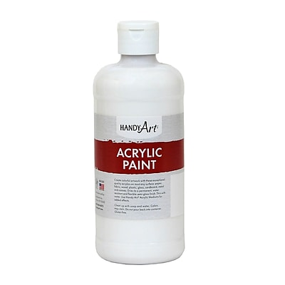 Handy Art® Student Acrylic Paint, Blockout White, Certified AP Non-Toxic and Gluten-Free, 16oz (RCP101005)