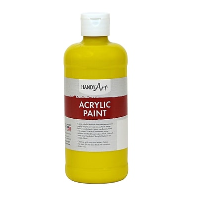 Handy Art® Student Acrylic Paint, Chrome Yellow, Certified AP Non-Toxic and Gluten-Free, 16oz (RCP101010)