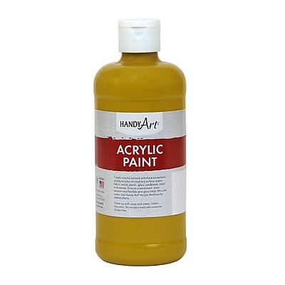 Handy Art® Student Acrylic Paint, Yellow Oxide, Certified AP Non-Toxic and Gluten-Free, 16oz (RCP101015)