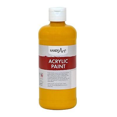 Handy Art® Student Acrylic Paint, Deep Yellow, 16 Oz. (RPC101020)