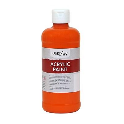 Handy Art® Student Acrylic Paint, Chrome Orange, Certified AP Non-Toxic and Gluten-Free, 16oz (ECP101025)