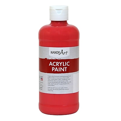Handy Art® Student Acrylic Paint, Phthalo Red, Certified AP Non-Toxic and Gluten-Free, 16oz (RCP101030)