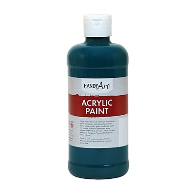 Handy Art® Student Acrylic Paint, Phthalo Green, Certified AP Non-Toxic and Gluten-Free, 16oz (RCP101050)