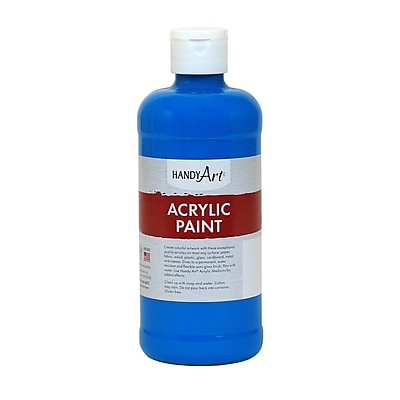 Handy Art® Student Acrylic Paint, Colbalt Blue, Certified AP Non-Toxic and Gluten-Free, 16oz (RCP101055)