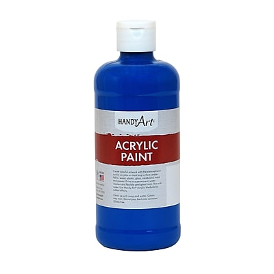 Handy Art® Student Acrylic Paint, Phthalo Blue, Certified AP Non-Toxic and Gluten-Free, 16oz (RCP101060)