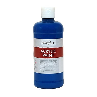 Handy Art® Student Acrylic Paint, Ultra Blue, Certified AP Non-Toxic and Gluten-Free, 16oz (RCP101065)