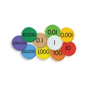 """Essential Learning Products® 10-Value Decimals to Whole Numbers Place Value Discs, 1"""", 250 Discs (ELP626638)"""