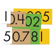 """Essential Learning Products® 4-Value Decimals To Whole Number Place Value Card Set, 4"""", 40 Cards (ELP626641)"""