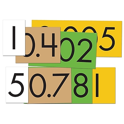 Essential Learning Products® 4-Value Decimals To Whole Number Place Value Card Set, 4