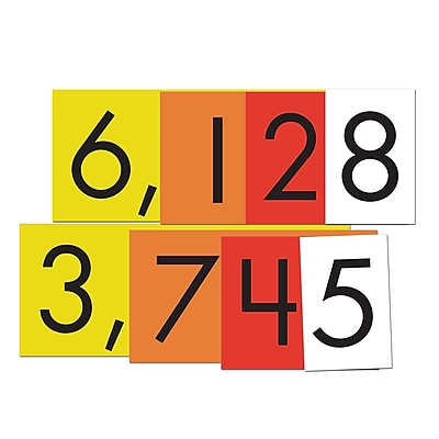 Essential Learning Products® 4-Value Whole Numbers Place Value Card Set, 4
