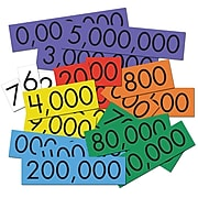 """Essential Learning Products® 7-Value Whole Number Place Value Card Set, 4"""", 70 Cards (ELP626643)"""