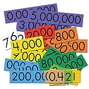 """Essential Products® 10-Value Decimals to Whole Numbers Place Card Set, 4"""", 100 Cards (ELP626644)"""