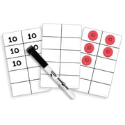 """Essential Learning Products® Write On Wipe Off Ten Frame Cards, 4 3/4"""" x 7 3/4"""", 30 Cards (ELP626645)"""