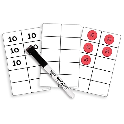 Essential Learning Products® Write On Wipe Off Ten Frame Cards, 4 3/4