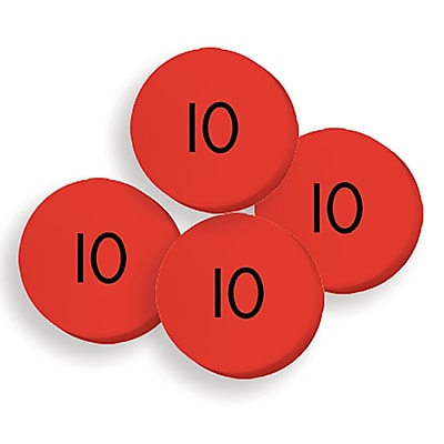 Essential Learning Products® 100 Tens Place Value Discs, 1