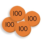 """Essential Learning Products® 100 Hundreds Place Value Discs, 1"""", 100 Discs (ELP626652)"""