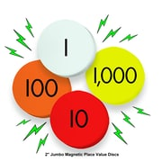 """Essential Learning Products®-Value Jumbo Magnetic Place Value Demonstration Discs, 2"""", 80 Discs (ELP626656)"""
