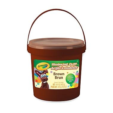 Crayola Modeling Clay Bucket, Non Toxic, Brown, 1 Lb, 3/Pack (BIN571307)