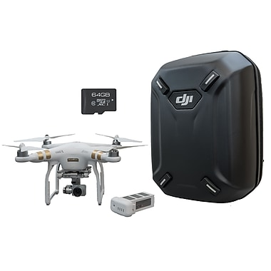 Staples® Exclusive DJI Phantom 3 Professional Drone Bundle w/ Extra Battery, Backpack & 64GB MicroSD Card