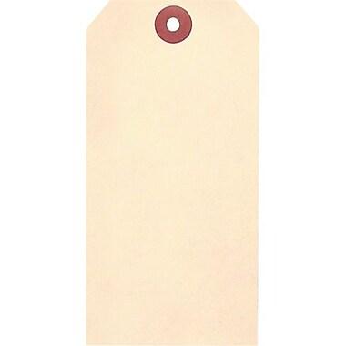 Étiquettes vierges en papier manille cartonné, trou avec fil métallique, 100/paquet (SAW519)