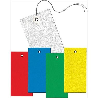 Tyvek - Étiquettes vierges, trou seulement, jaune, 100/paquet (SAW686)