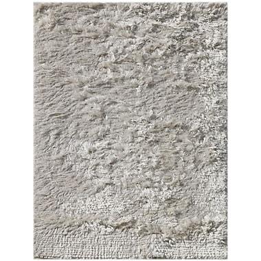 AMER Rugs Neon Design White, Hand-Woven Rug; 2' x 3'