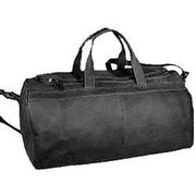 David King 19'' Leather Classic Carry-On Duffel; Black