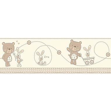 WallPops! Fun4Walls Bear and Boo Neutral Wall Mural