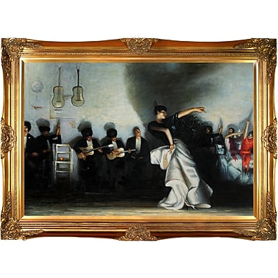 Tori Home 'El Jaleo' by John Singer Sargent Framed Oil Painting Print on Canvas