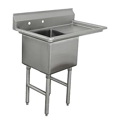Advance Tabco Single Fabricated Bowl Scullery Sink; 44.5''
