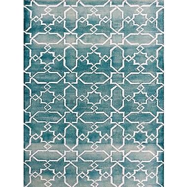 AMER Rugs Shibori Sea Blue/White Area Rug; 8' x 11'