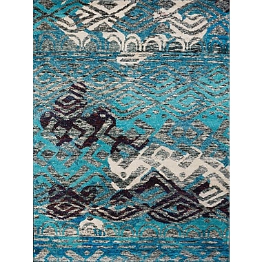 AMER Rugs Silkshine Blue Area Rug; 2' x 3'