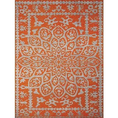 AMER Rugs Kimaya Hand-Knotted Orange Area Rug; 5' x 8'