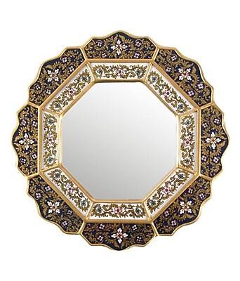 Novica Star Wall Mirror; Black